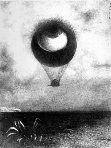 I. El ojo como una pelota extraña se dirige hacia el infinito (262mm x 198mm)