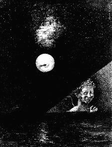 IV. En el horizonte, el ángel de las certidumbres y, en el cielo oscuro, una mirada interrogativa (272mm x 208mm)