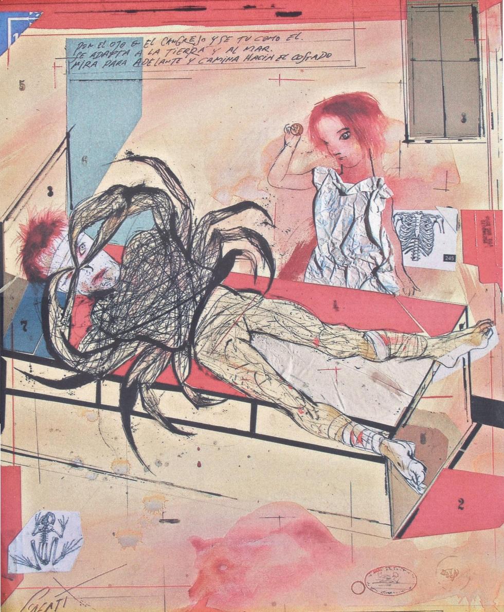 """Dibujo para el cuento """"De hombres, ciervos y cangrejos"""" de Anna Kazumi Stahl"""