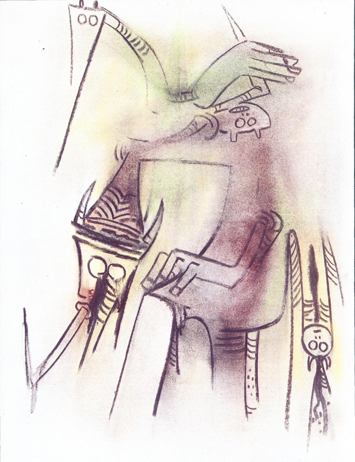 El gallo de la aurora (1975, pastel)