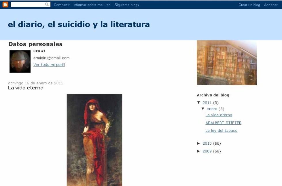 el diario, el suicidio y la literatura