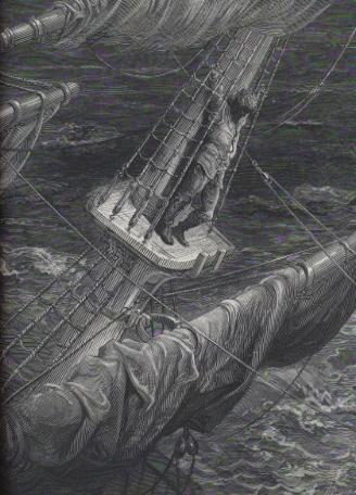 Ilustración de la Rima del anciano marinero, por Gustave Doré.