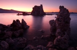 Tufa glowing in the evening light at Mono Lake, California