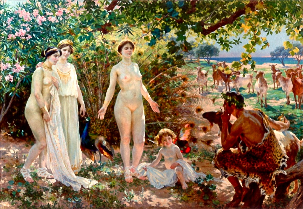Enrique Simonet Lombardo (1866–1927) El juicio de Paris (1904)