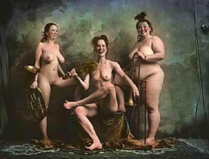 Jan Saudek (1935) Las tres Gracias