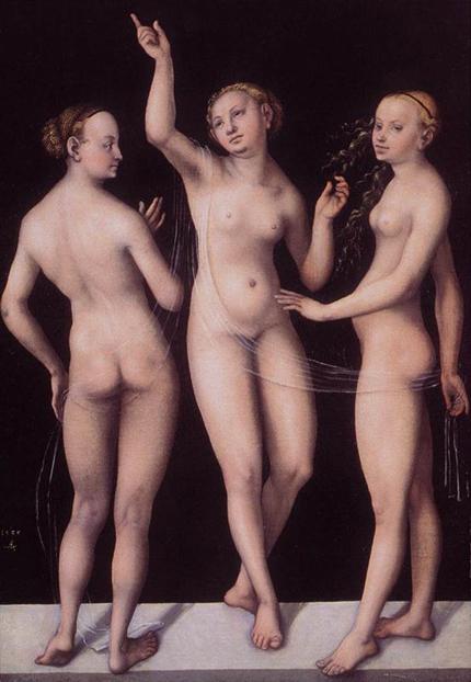 Lucas Cranach el Viejo (1472-1553) Las tres Gracias