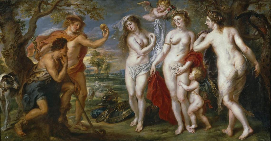 Peter Paul Rubens (1577-1640) El juicio de Paris (h. 1638)