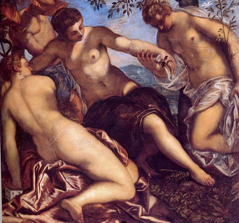 Tintoretto (1518-1594) Las Tres Gracias y Mercurio