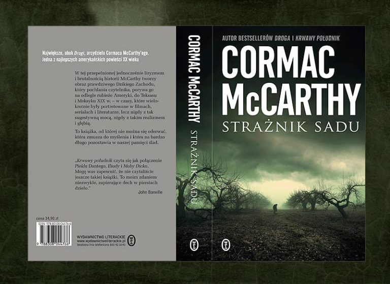 book cover artwork for CORMAC McCARTHY - The Orchard Keeper ( Straznik Sadu )