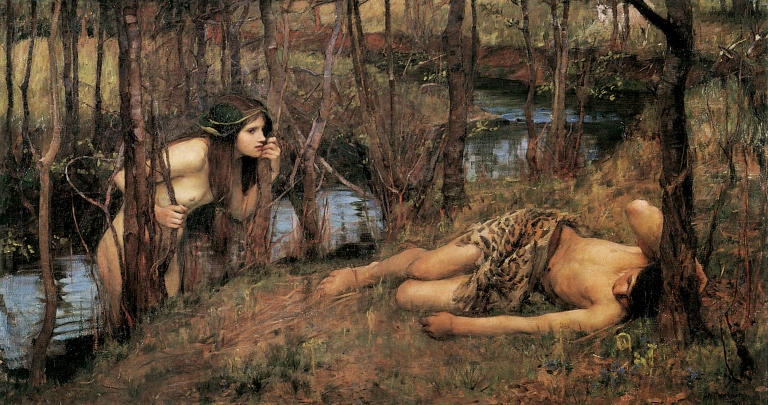 A_Naiad_or_Hylas_with_a_Nymph_by_John_William_Waterhouse_(1893)