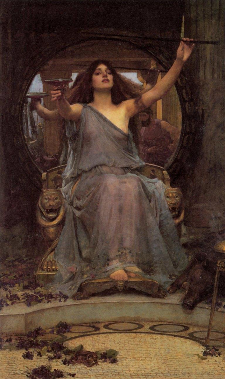 Circe ofreciendo una copa a Odiseo