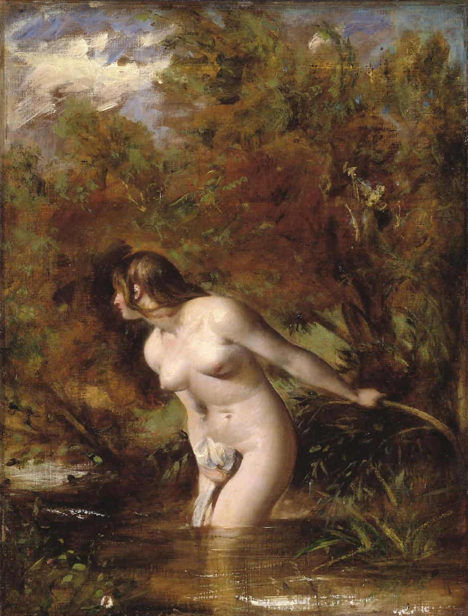 Musidora: The Bather 'At the Doubtful Breeze Alarmed', replica ?exhibited 1846 William Etty 1787-1849 Bequeathed by Jacob Bell 1859 http://www.tate.org.uk/art/work/N00614